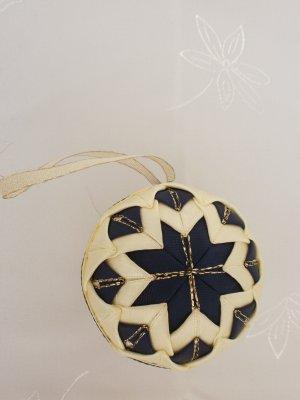 Vianočná guľa - modro-maslová
