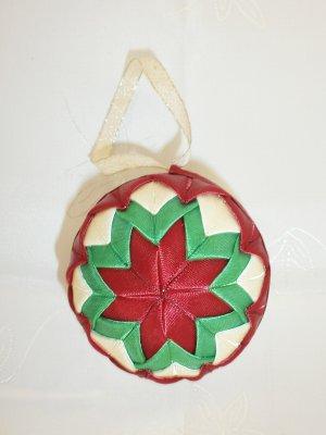 Vianočná guľa - bordovo-zelená