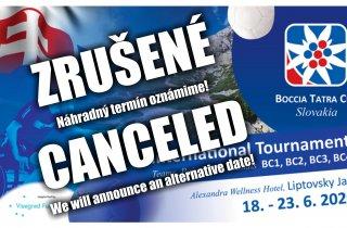 Boccia Tatra Cup 2020 - Zrušené - Canceled