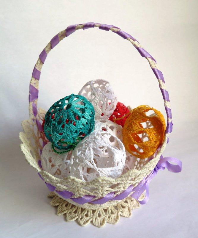 Vajíčka háčkované